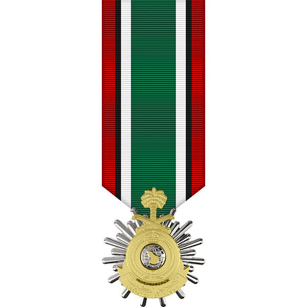 Saudi Arabian Anodized Miniature Medal for the Liberation of Kuwait