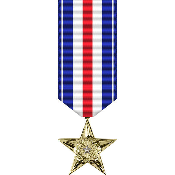 Silver Star Anodized Miniature Medal