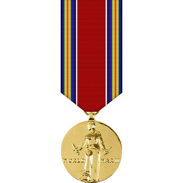 World War II Victory Anodized Miniature Medal