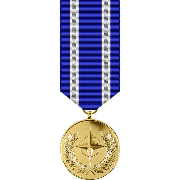 NATO ISAF (International Security Assistance Force) Anodized Miniature Medal