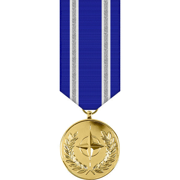 NATO Operation Resolute Support Anodized Miniature Medal