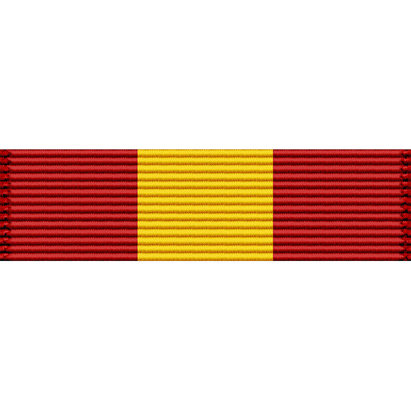 Puerto Rico National Guard Distinguished Service Medal Thin Ribbon