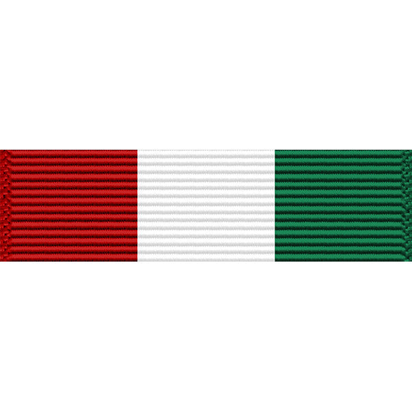 Puerto Rico National Guard Service Medal Thin Ribbon