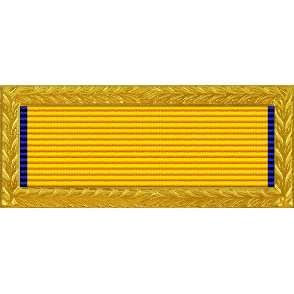 New Jersey National Guard Governor's Unit Award Ribbon with Gold Frame