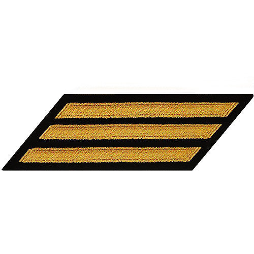 Enlisted Seaworthy Gold on Serge Hashmarks / Service Stripes - Male Size
