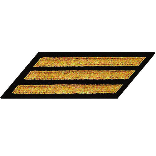 CPO Seaworthy Gold on Blue Hashmarks / Service Stripes