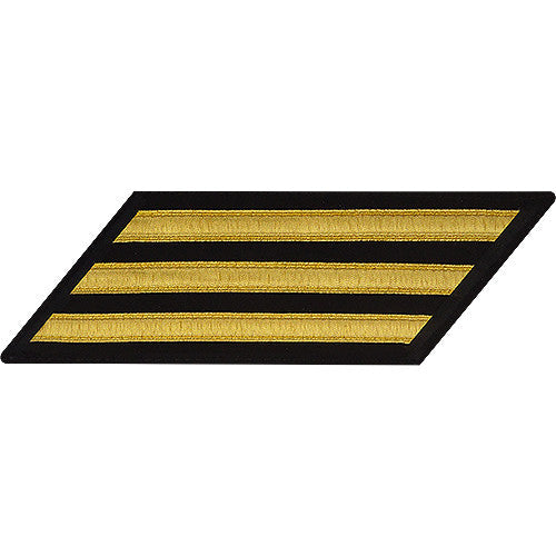 U.S. Navy Enlisted Gold Lace on Blue 3-Stripe (Male Size)