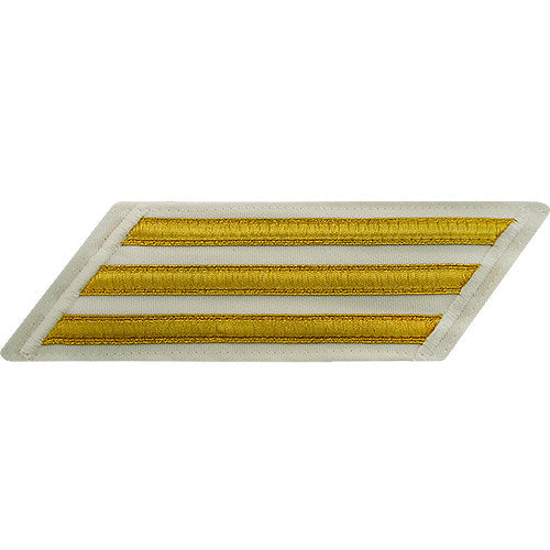 Enlisted Gold Lace on White Hashmarks / Service Stripes - Male Size