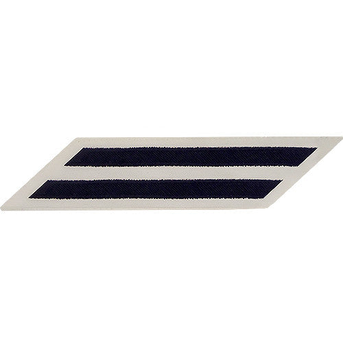 U.S. Navy CPO Blue on White 2-Stripe