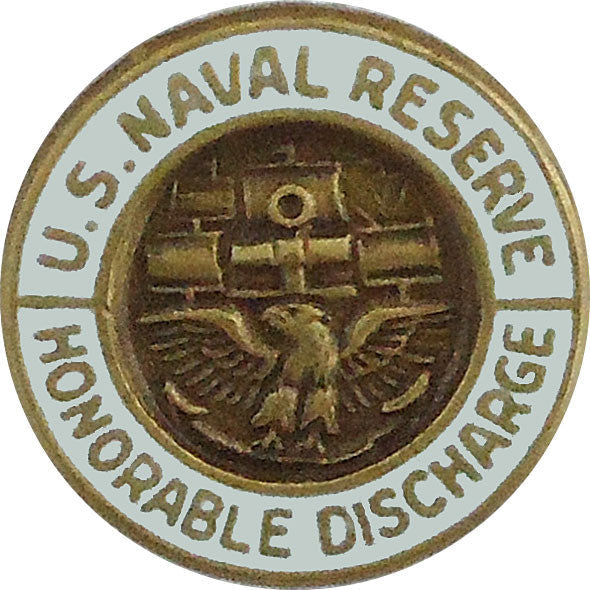 Naval reserve honorable discharge lapel pin usamm for Army emergency reserve decoration