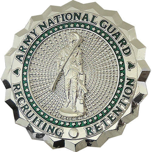 Us Army Nat Guard Basic Recruiting And Ret Id Badge Mirror Finish X
