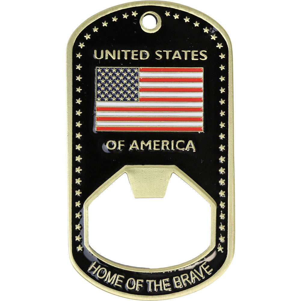 We Support Our Troops Bottle Opener - Front