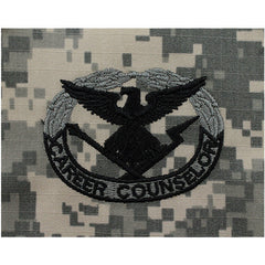 Army Career Counselor Embroidered ACU Badge