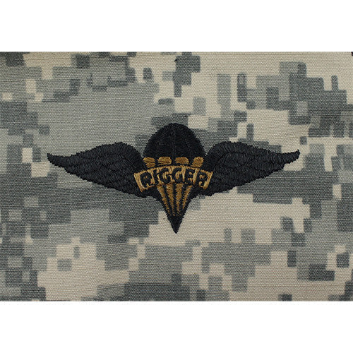 Army Parachute Rigger Embroidered ACU Badges