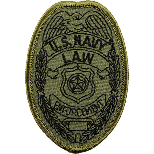 Navy Law Enforcement Subdued Patch - Large
