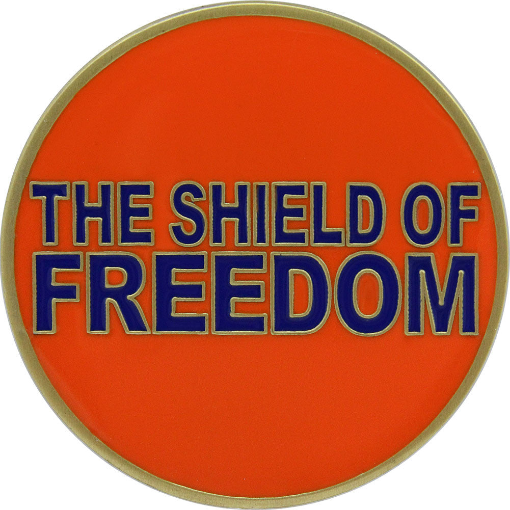 United States Coast Guard Shield of Freedom Coin - Front