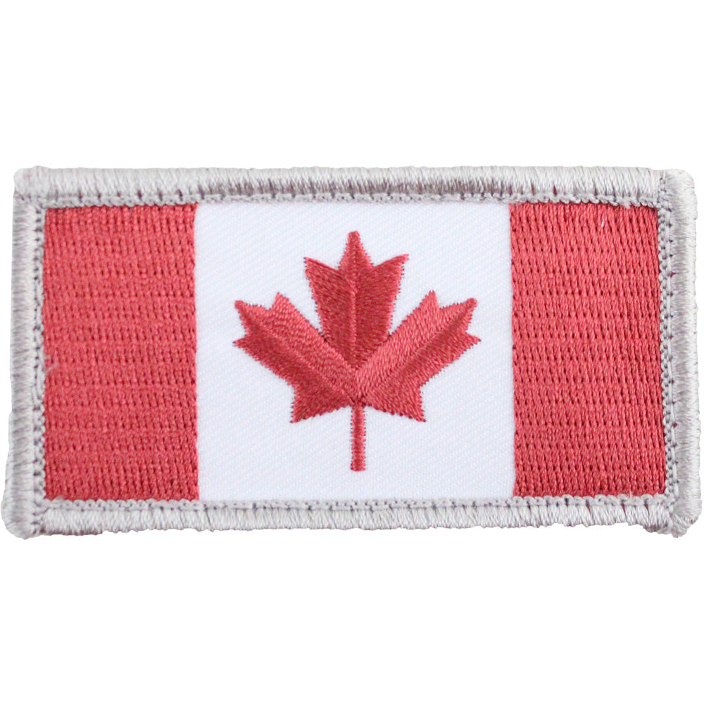 Canadian Flag Morale Patch with Hook Backing - Full Color