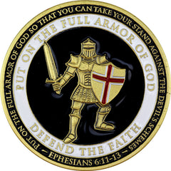 Armor of God - US Army Challenge Coin