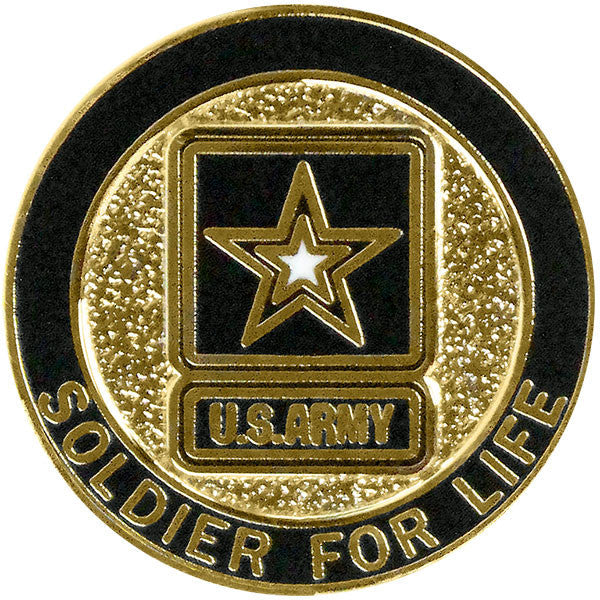 Army Soldier For Life Lapel Pin Usamm