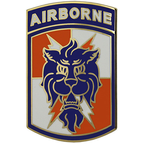 35th Signal Brigade With Airborne Tab Combat Service Identification Badge