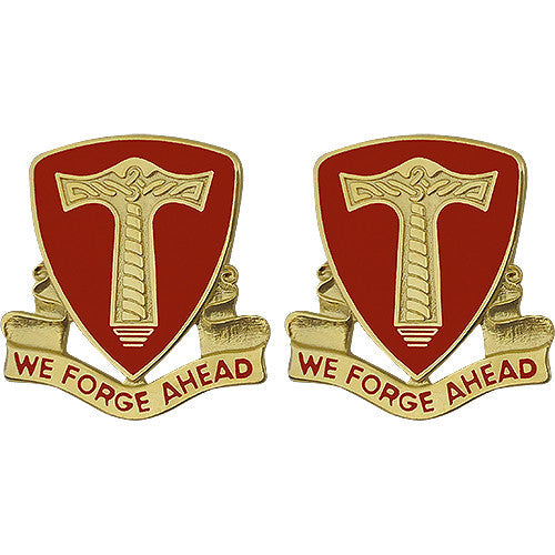 18th Support Battalion Unit Crest (We Forge Ahead)