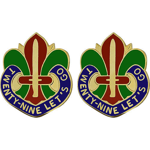29th Infantry Division Unit Crest (Twenty-Nine Let's Go)