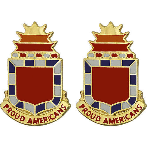 32nd Field Artillery Regiment Unit Crest (Proud Americans)