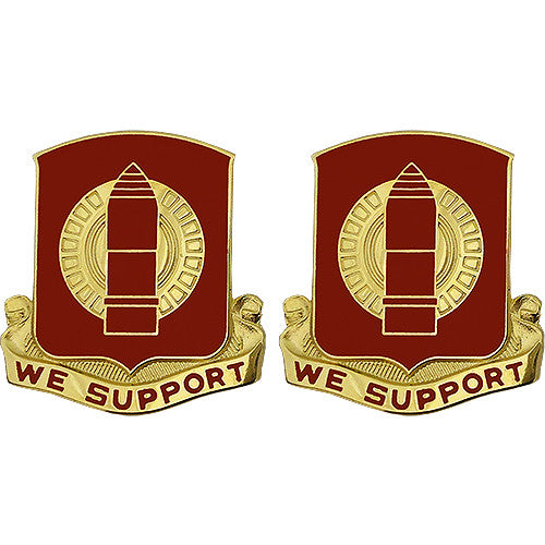 34th Field Artillery Regiment Unit Crest (We Support)