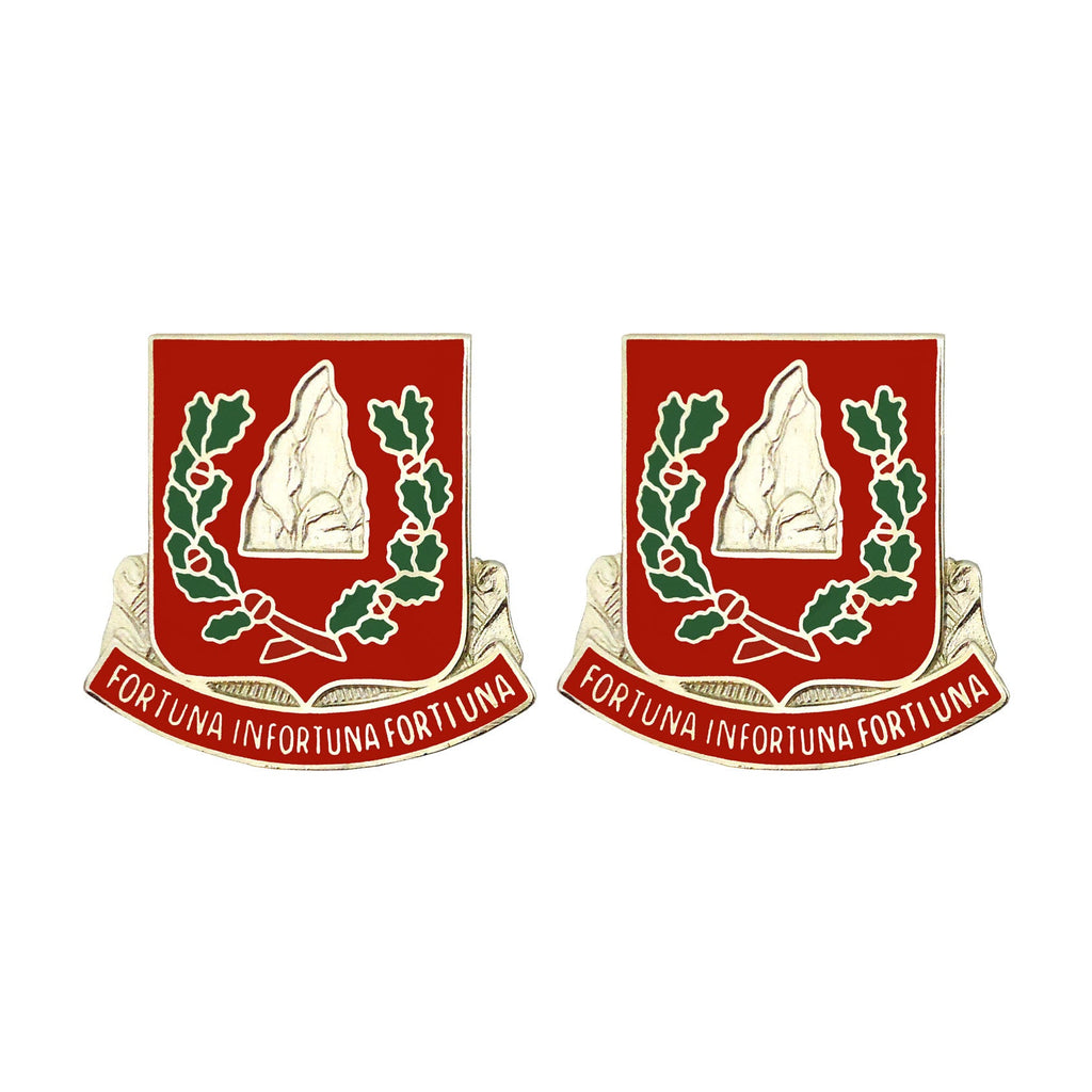 37th Engineer Battalion Unit Crest (Fortuna Infortuna Forti Una)