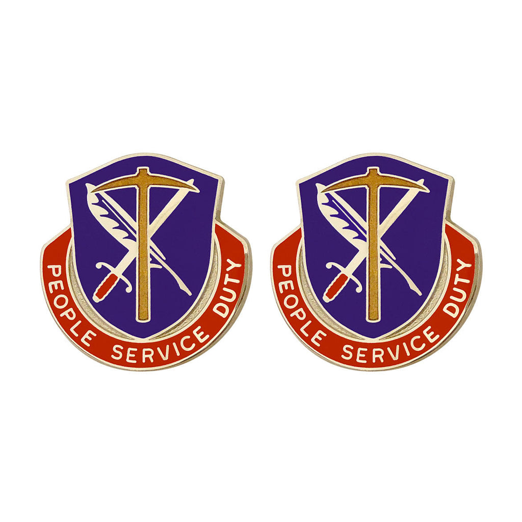 49th Personnel Services Battalion Unit Crest (People Service Duty)