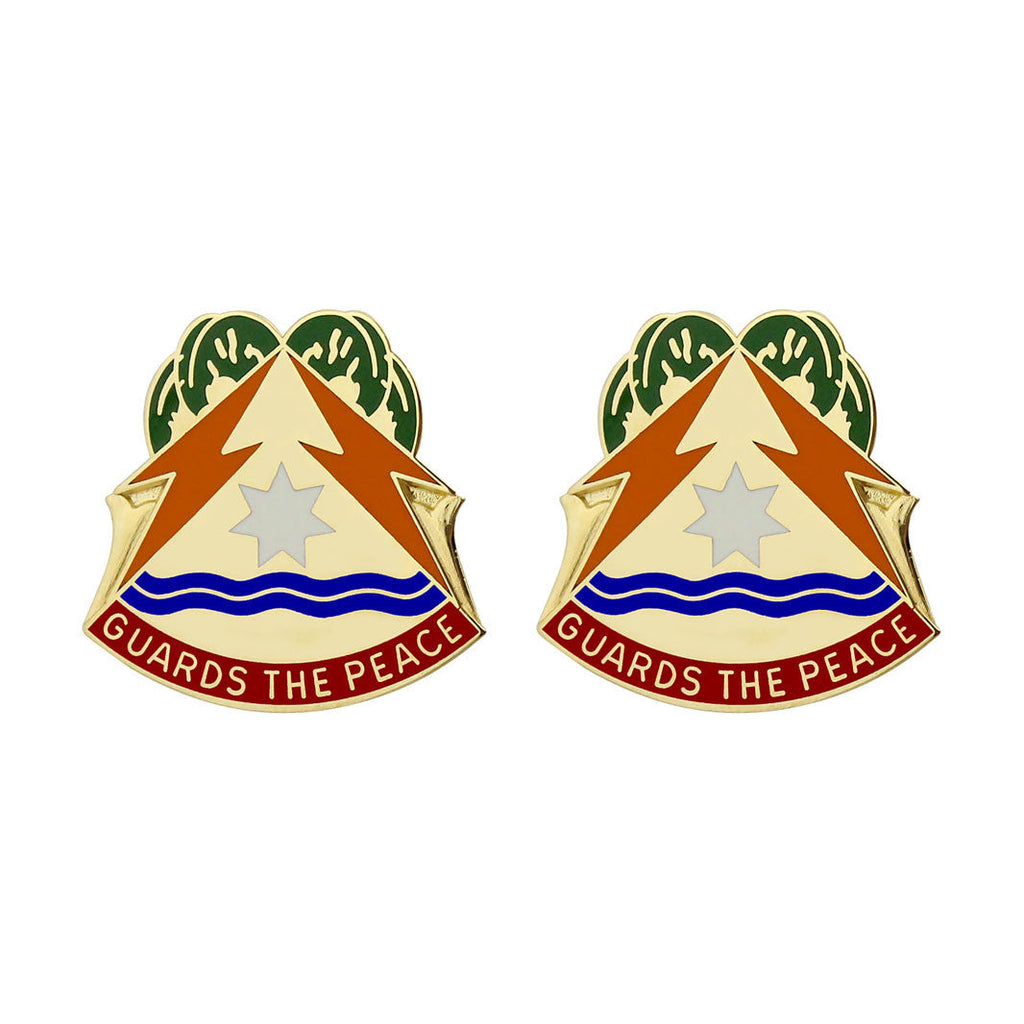 417th Signal Battalion Unit Crest (Guards the Peace)