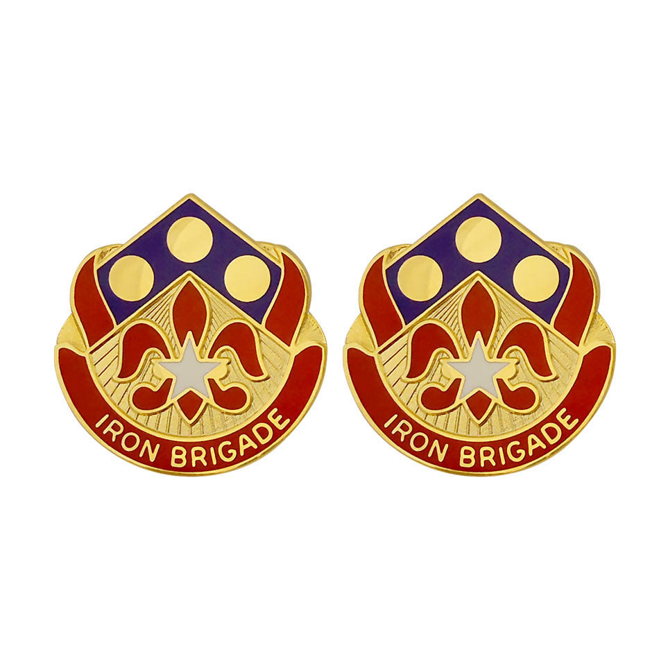 157th Maneuver Enhancement Brigade Unit Crest (Iron Brigade)