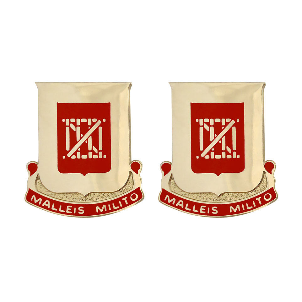 62nd Engineer Battalion Unit Crest (Malleis Milito)