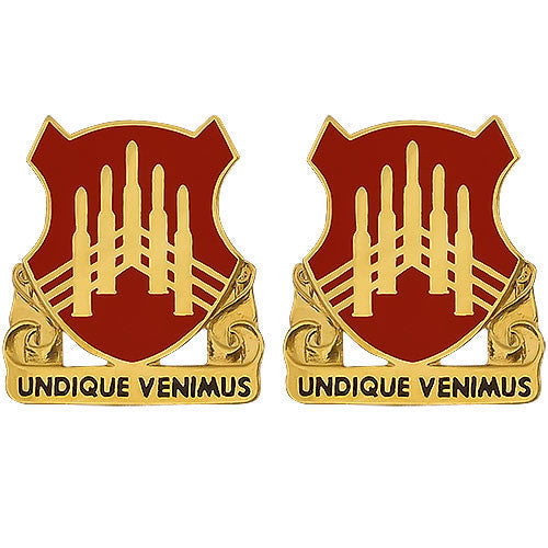 71st ADA (Air Defense Artillery) Regiment Unit Crest (Undique Venimus)
