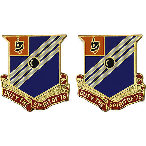76th Field Artillery Regiment Unit Crest (Duty the Spirit of '76)