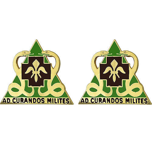 85th Medical Battalion Unit Crest (Ad Curandos Milites)