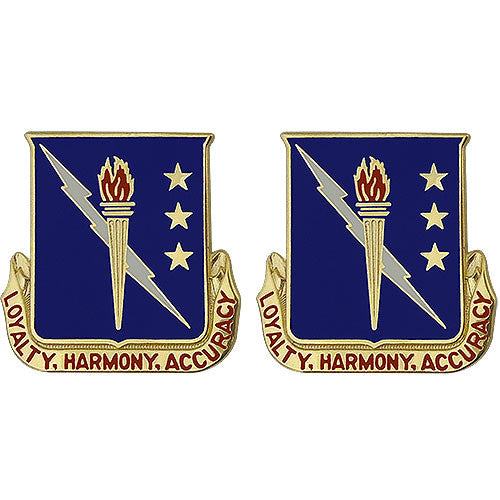93rd Signal Brigade Unit Crest (Loyalty, Harmony, Accuracy)