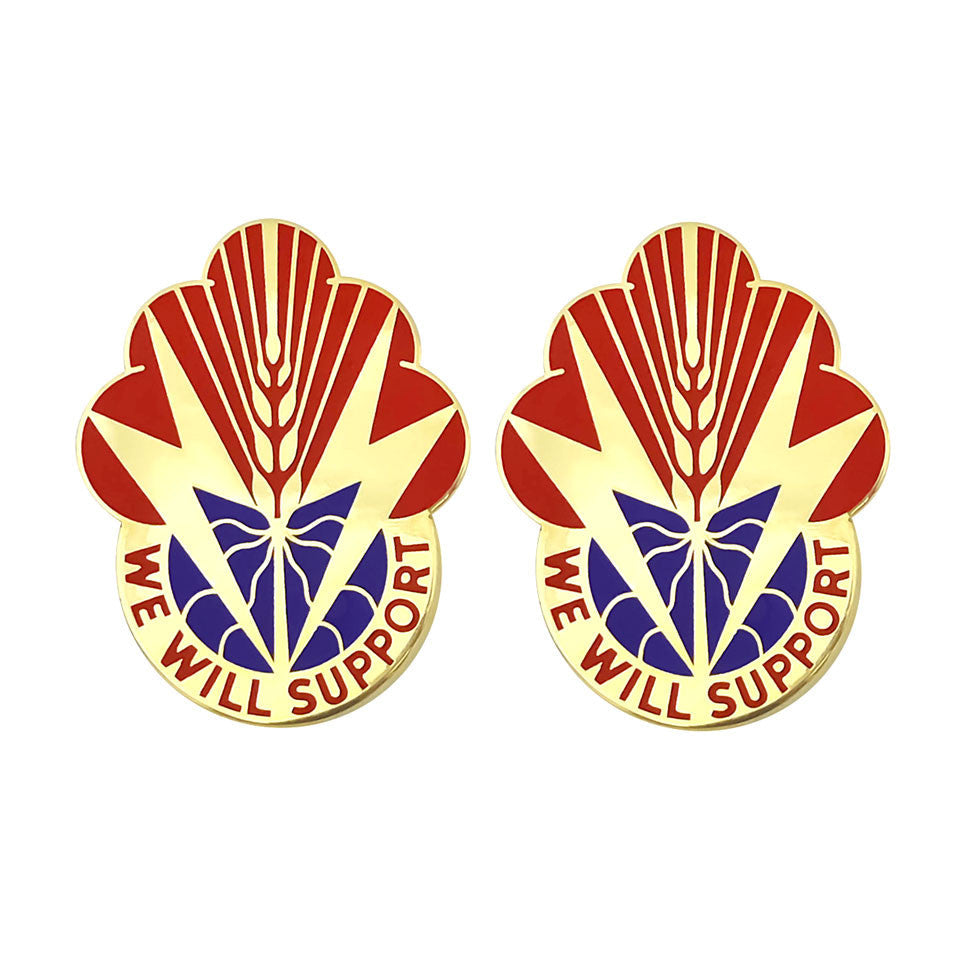 100th Support Battalion Unit Crest (We Will Support)