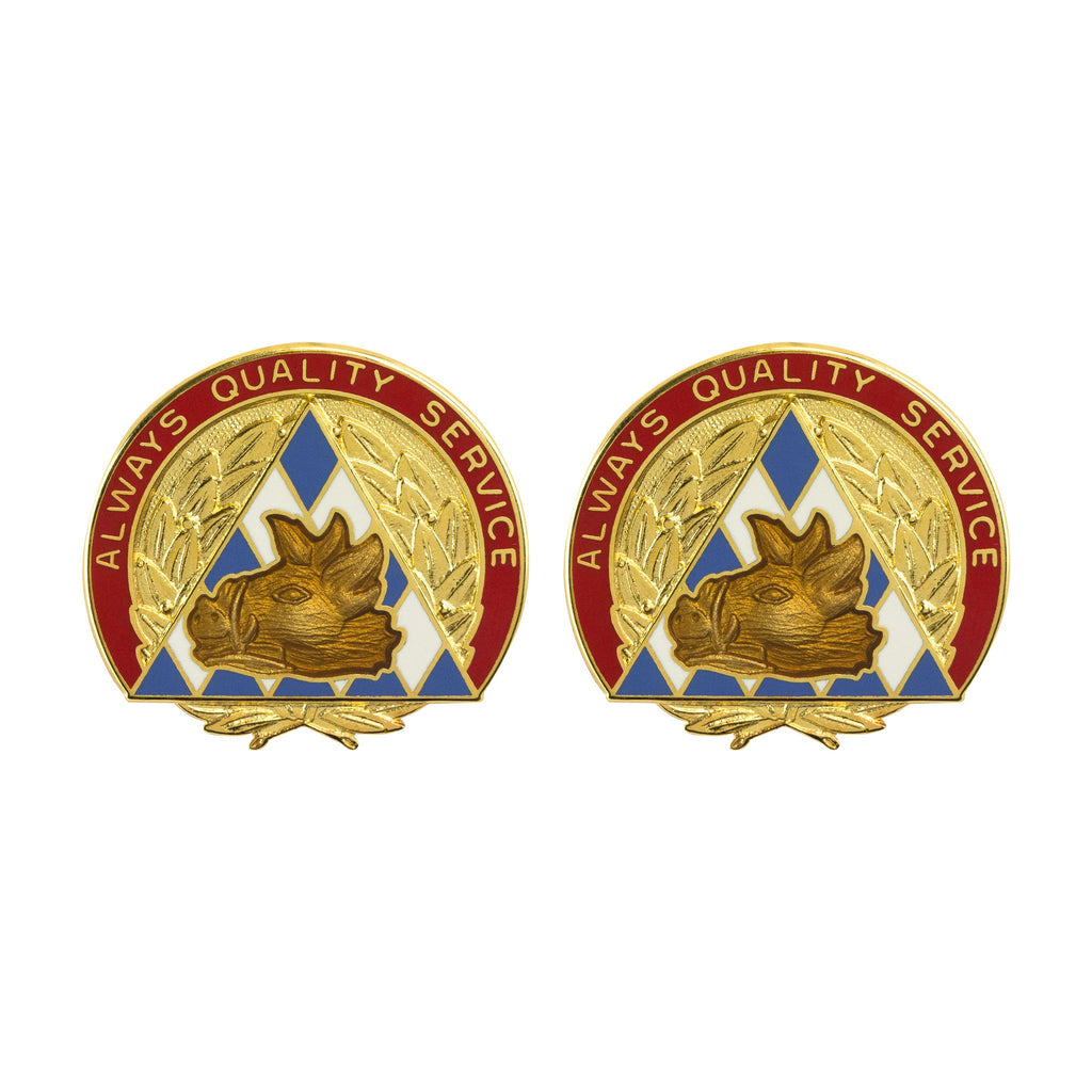 100th Area Support Group Unit Crest (Always Quality Service)