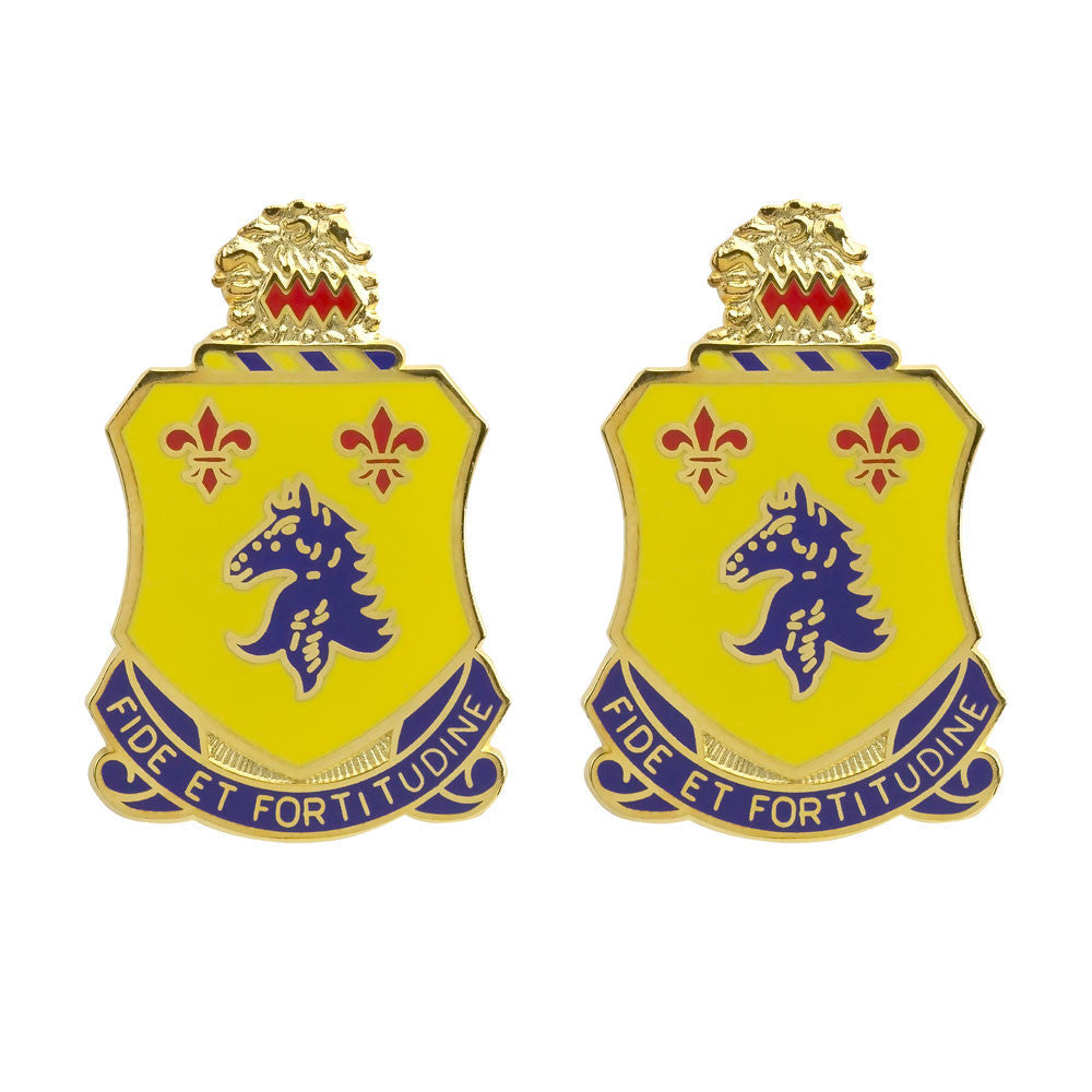 102nd Armor Regiment Unit Crest (Fide Et Fortitudine)