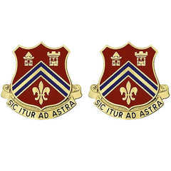 102nd Field Artillery Regiment Unit Crest (Sic Itur Ad Astra)
