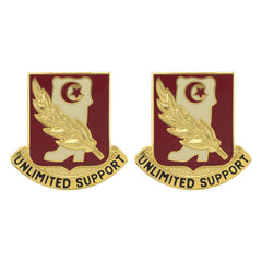 105th Support Battalion Unit Crest (Unlimited Support)