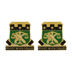 105th Military Police Battalion Unit Crest (Ready When Called)