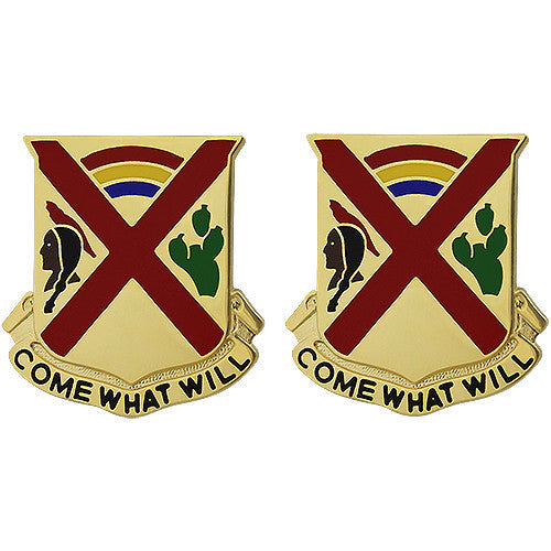 108th Cavalry Regiment Unit Crest (Come What Will)
