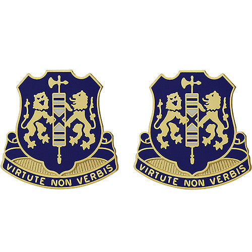 108th Infantry Regiment Unit Crest (Virtute Non Verbis)
