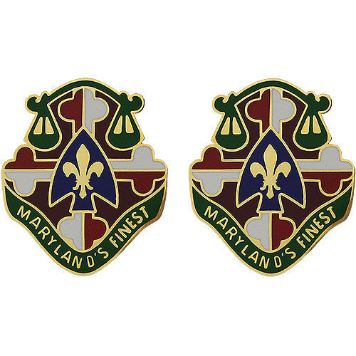 115th Military Police Battalion Unit Crest (Maryland's Finest)