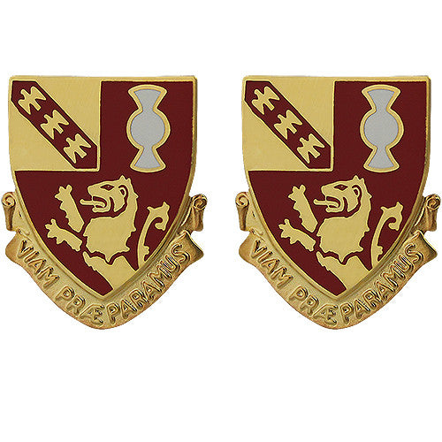 119th Field Artillery Regiment Unit Crest (Viam Praeparamus)