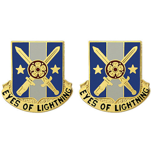125th Military Intelligence Battalion Unit Crest (Eyes of Lightning)