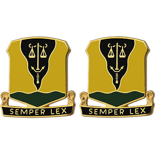 125th Military Police Battalion Unit Crest (Semper Lex)