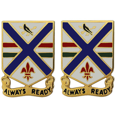 130th Infantry Regiment Unit Crest (Always Ready)